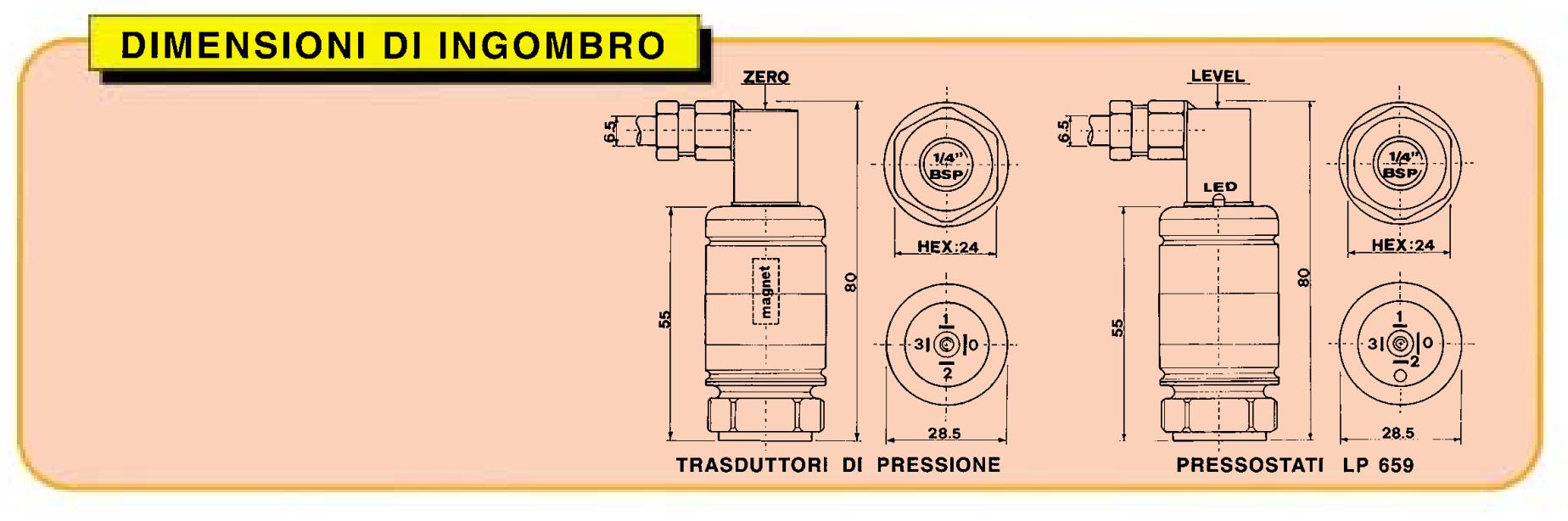 Dimensioni d'ingombro LP 650
