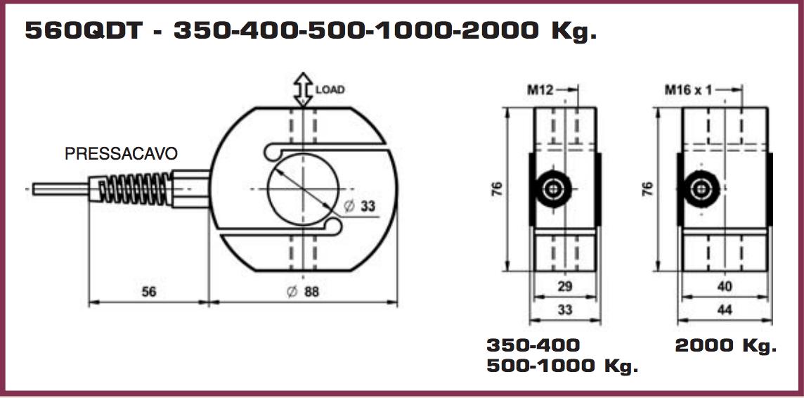560qdt  u201cs u201d type load cells