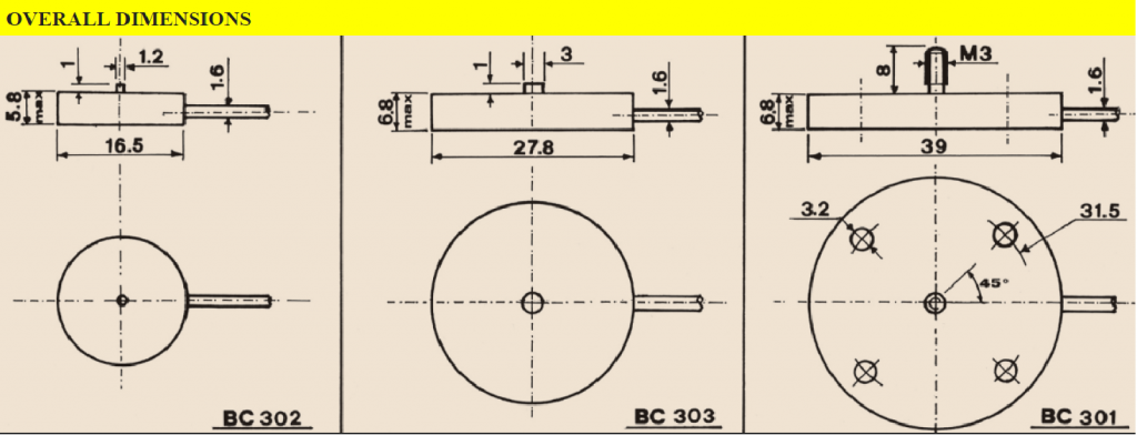 BC3xx Overall Dimensions